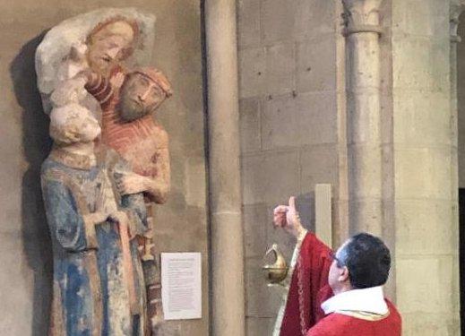 Bénédiction de la statue de Saint Étienne