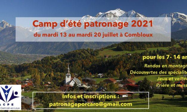 Camp d'été du patronage Porcaro, du 13 au 20 juillet