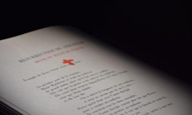 Introduction à la lecture continue de la Bible, à partir du 29 septembre avec inscription nécessaire